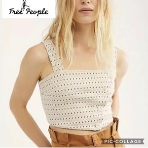 NWOT Free People sz Small crop top This is Love